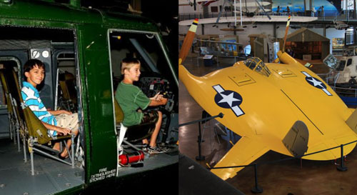 kids at frontiers of flight museum